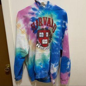 Harvard University Tie Dye Hoodie